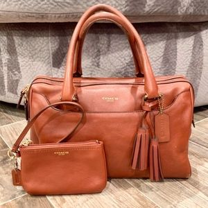 Coach British Tan Legacy Haley Satchel